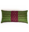 Pine Green and Berry Sari Pillow: Lumbar