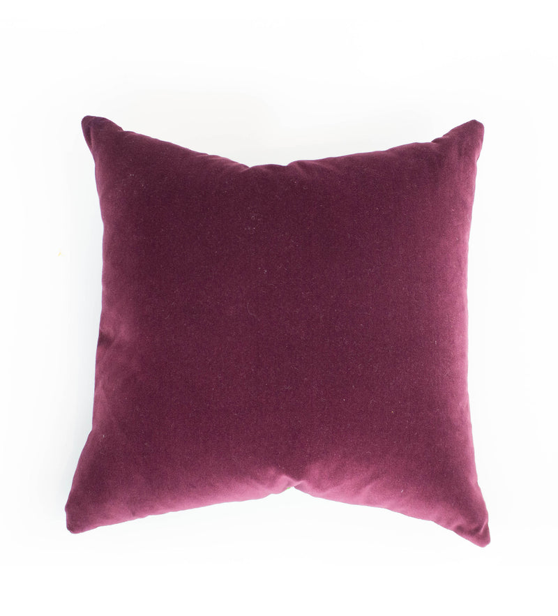 Pine Green and Berry Sari Pillow