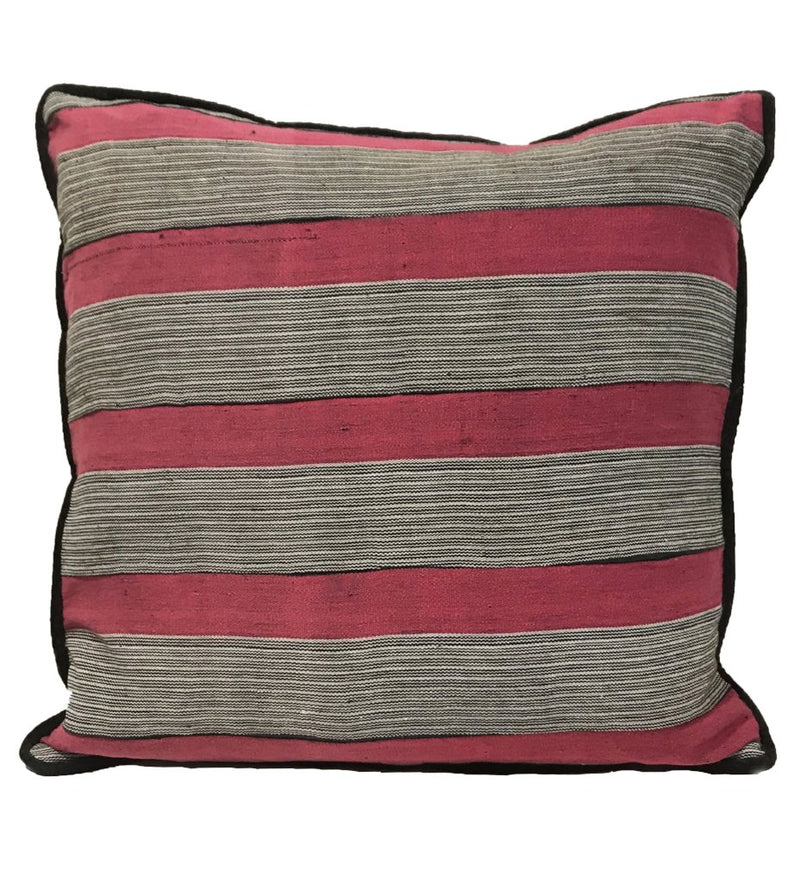 Pink Strip Weaving Pillow