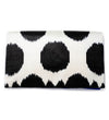 Hope + Love Beaded Clutch: Black and White