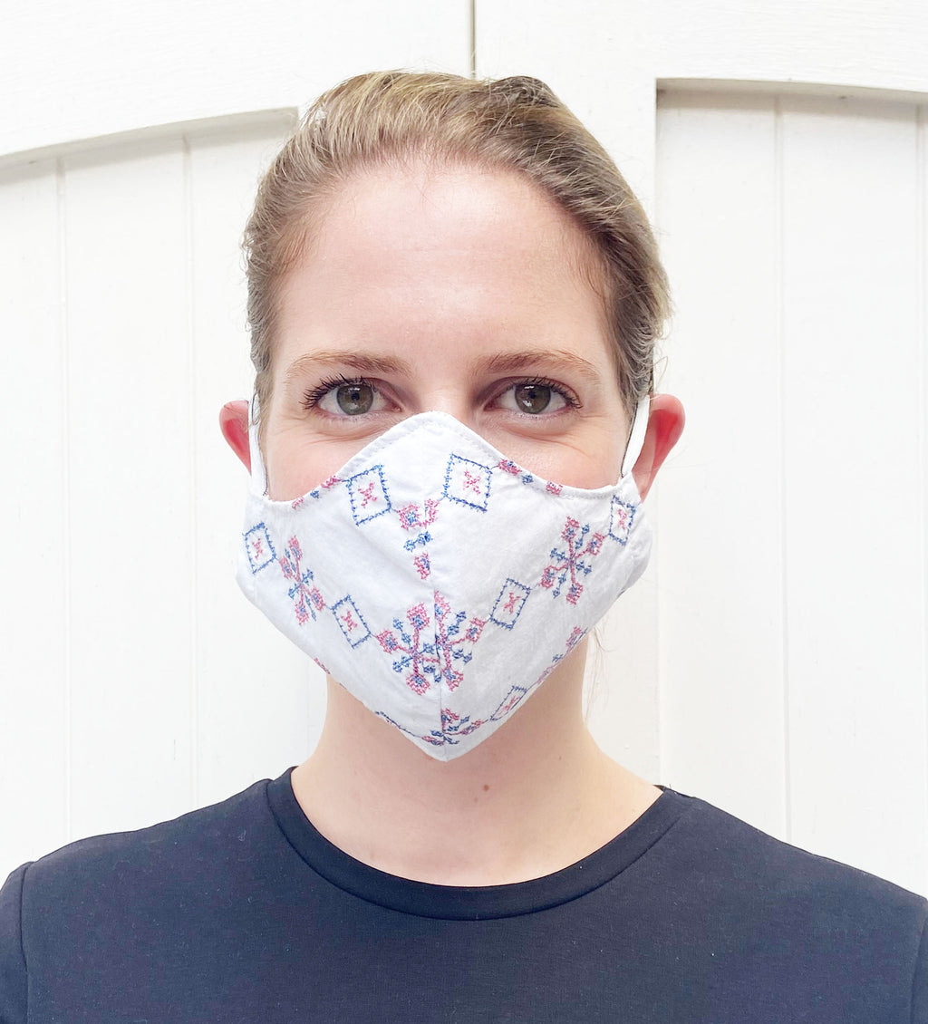 Protective Face Mask: Cross Stitch