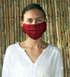 Protective Face Mask: Pleated Mulberry