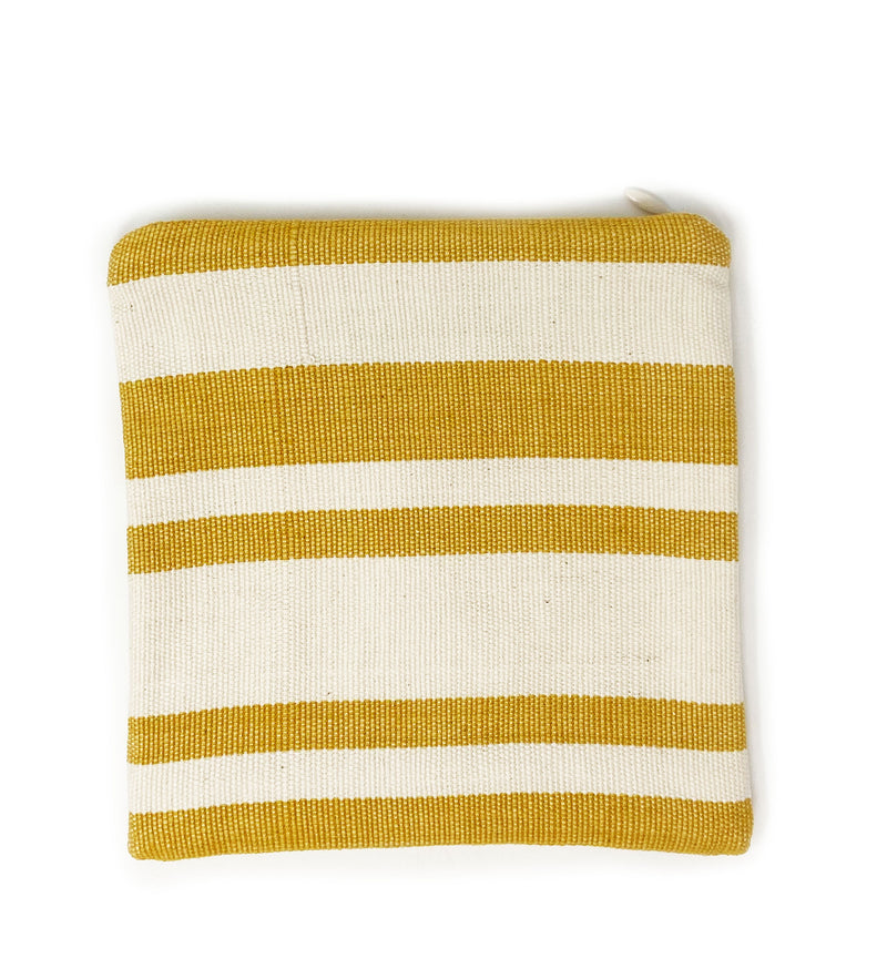 Protective Face Mask Pouch: Sunflower Stripe