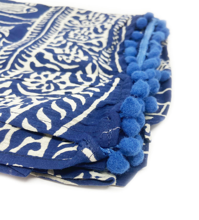 Rahela Block Print Scarf with Fish