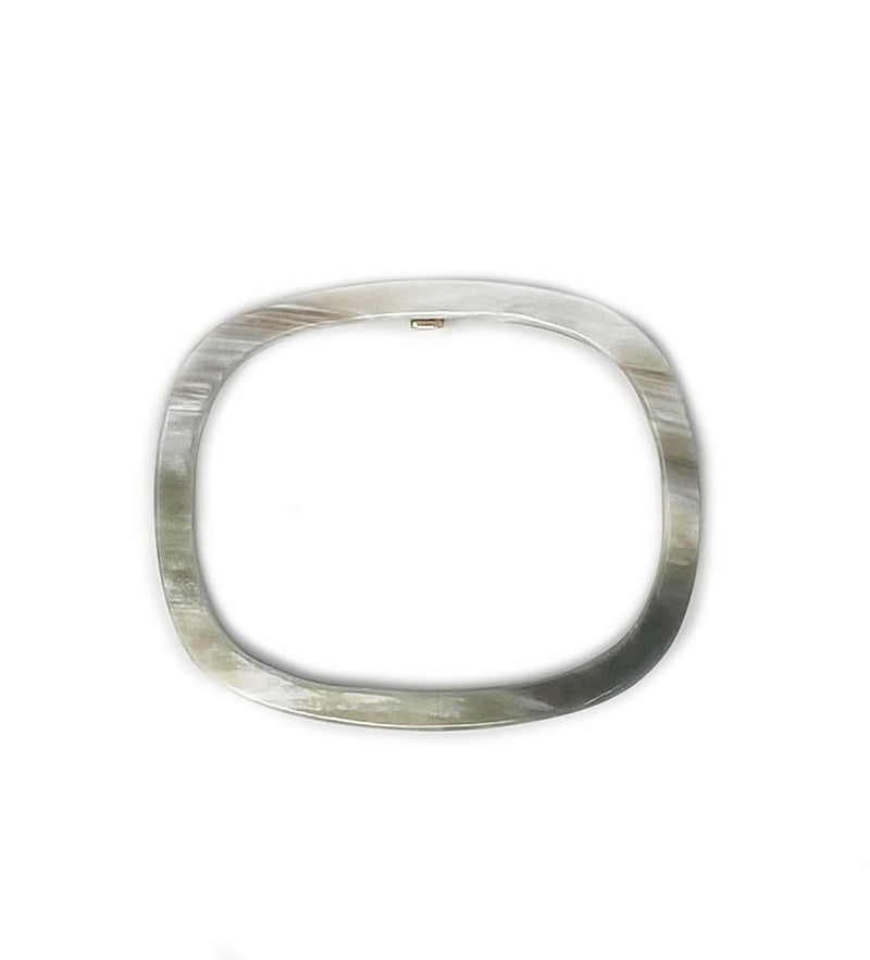 Rectangle Horn Bangle: Black and White