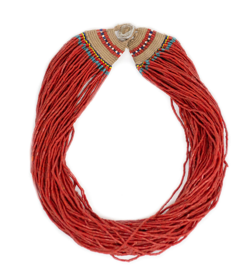 Red Full Medium Length Naga Necklace