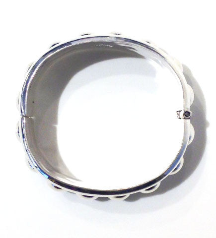 Silver from Mexico: Hinged Bangle 12mm