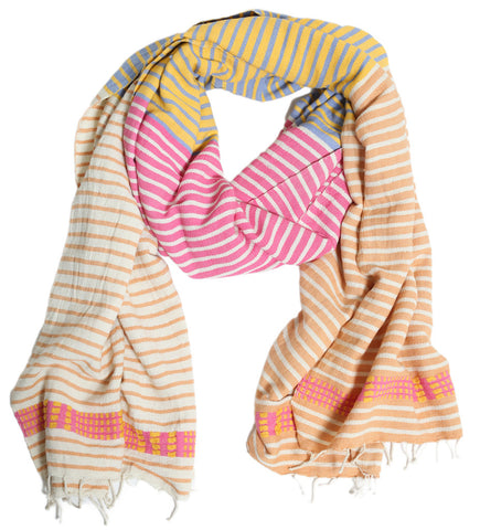Dorze Cotton Stripe Shawl