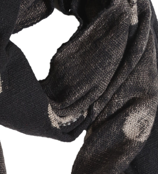 Black and Tan Dot Scarf