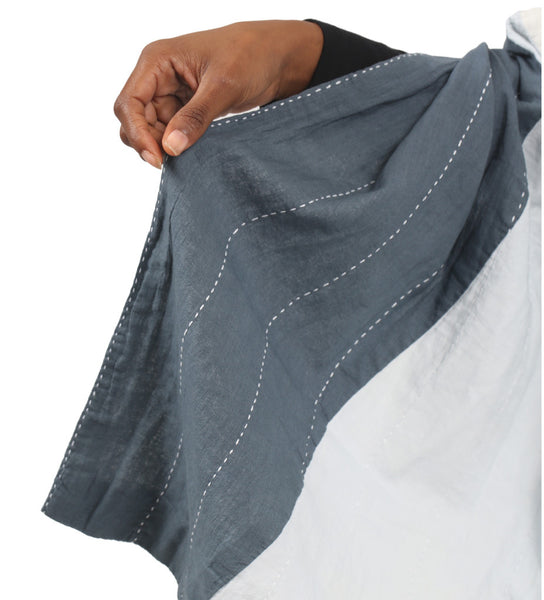 Naari Scarf: Grey/Natural/Black