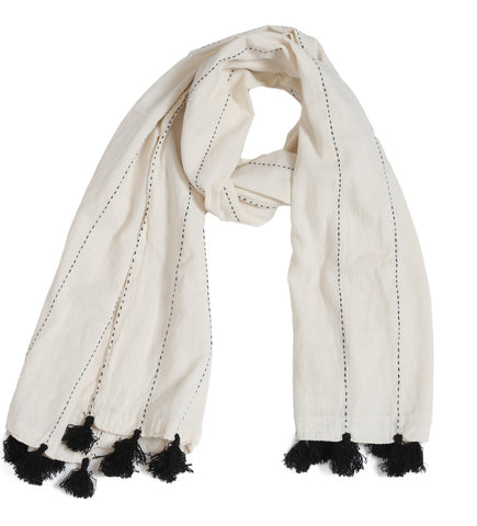 Didi Scarf: Natural/Black