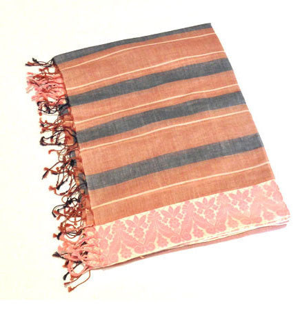 Indian Scarf with Bengal Border