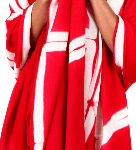 Voluminous Pashmina Shawl: Scarlet