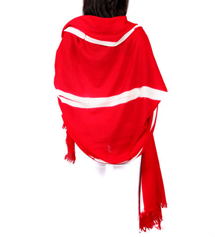 Voluminous Pashmina Shawl in Scarlet