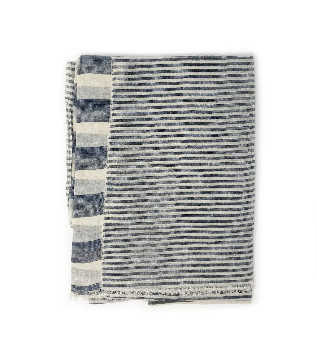 Sagar Grey Cotton Scarf