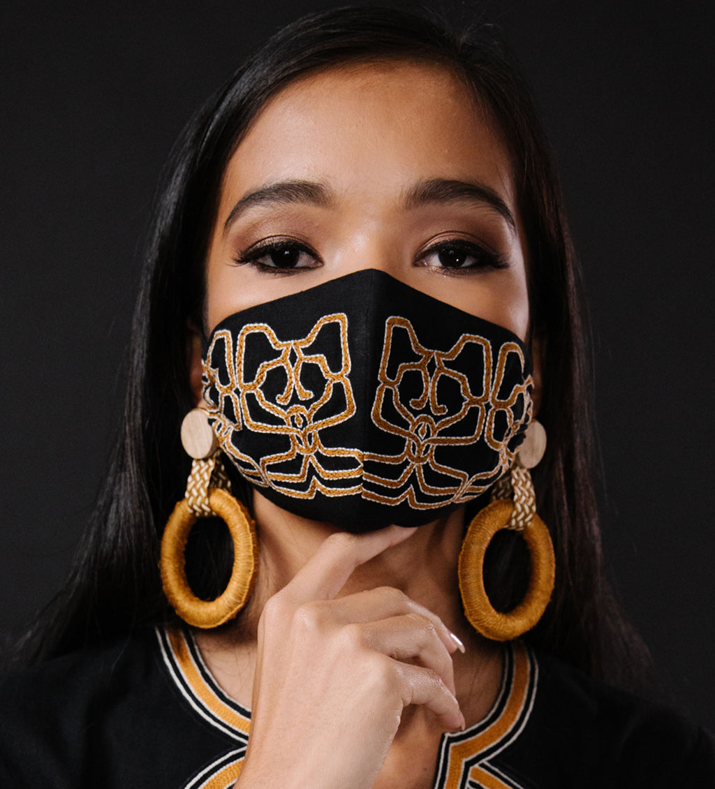 Samina's Intricately Embroidered Face Mask