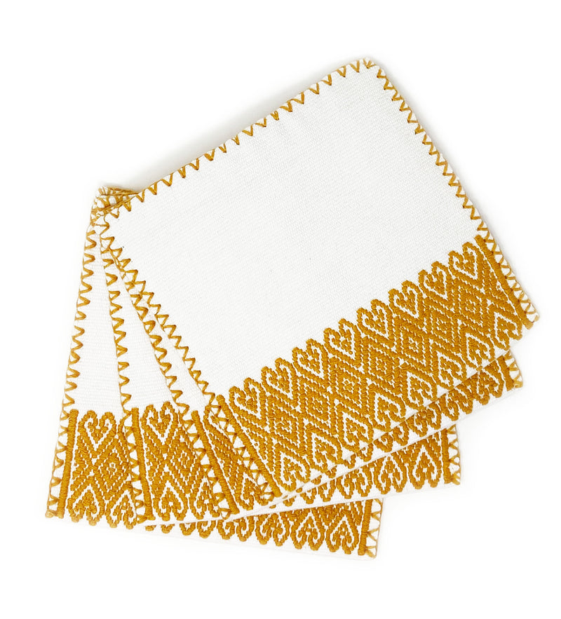 San Andres Cocktail Napkins: Gold