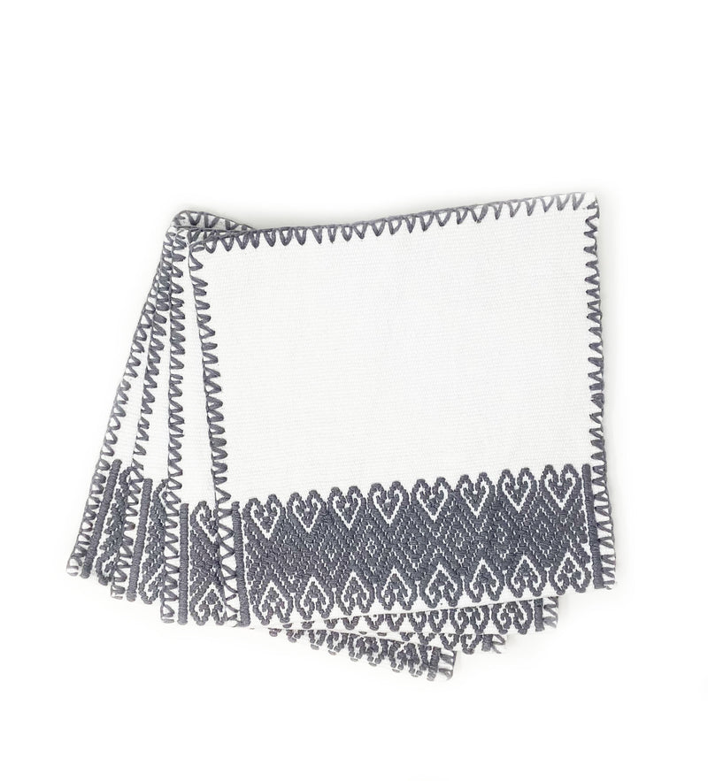 San Andres Cocktail Napkins: Grey