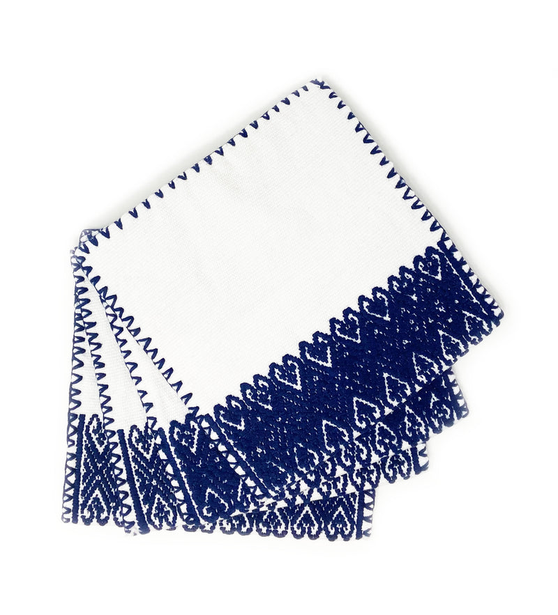 San Andres Cocktail Napkins: Navy