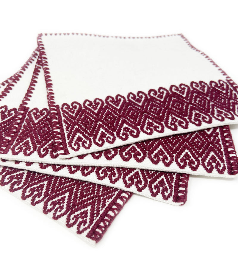 San Andres Cocktail Napkins: Ox Blood