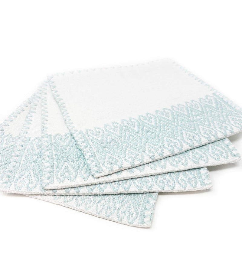 San Andres Cocktail Napkins: Sea Foam