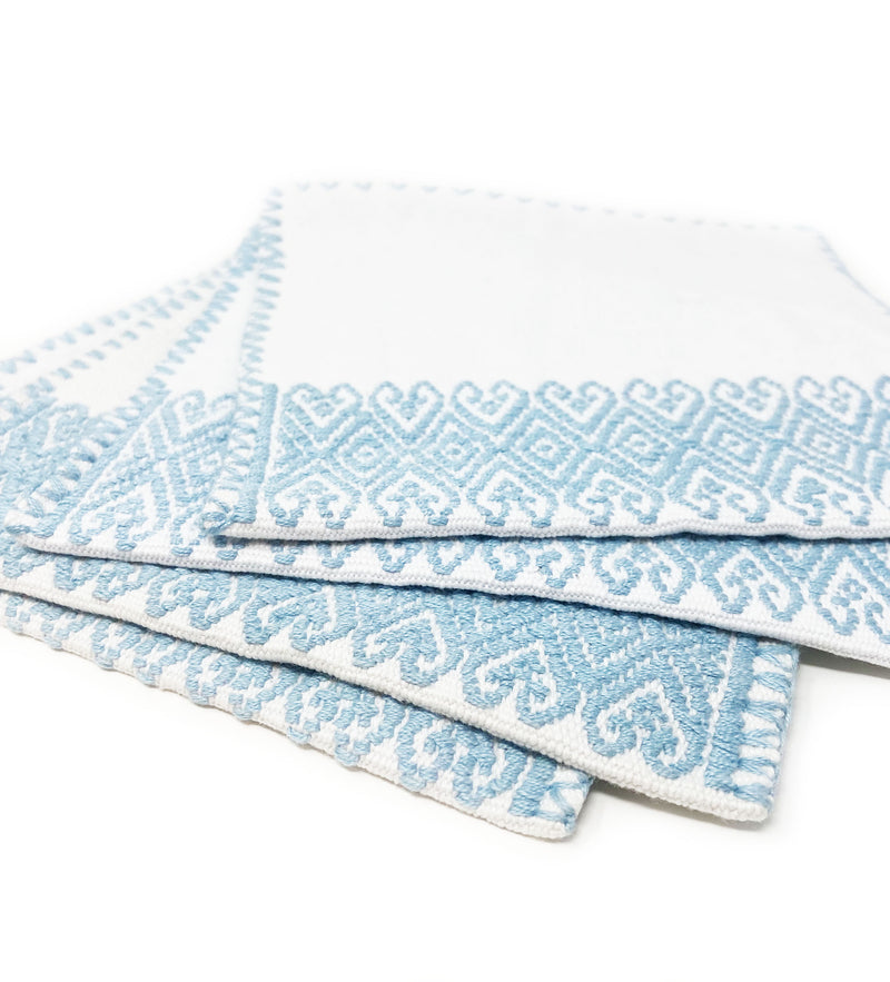 San Andres Cocktail Napkins: Sky Blue