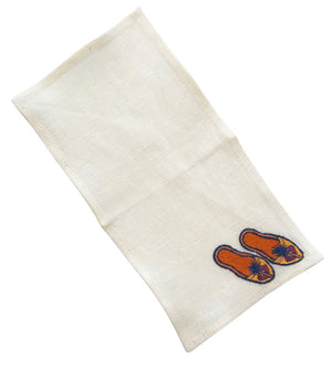 Set of Embroidered Shoe Cocktail Napkins