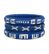 Cana Flecha Large Bangle: Blue and White