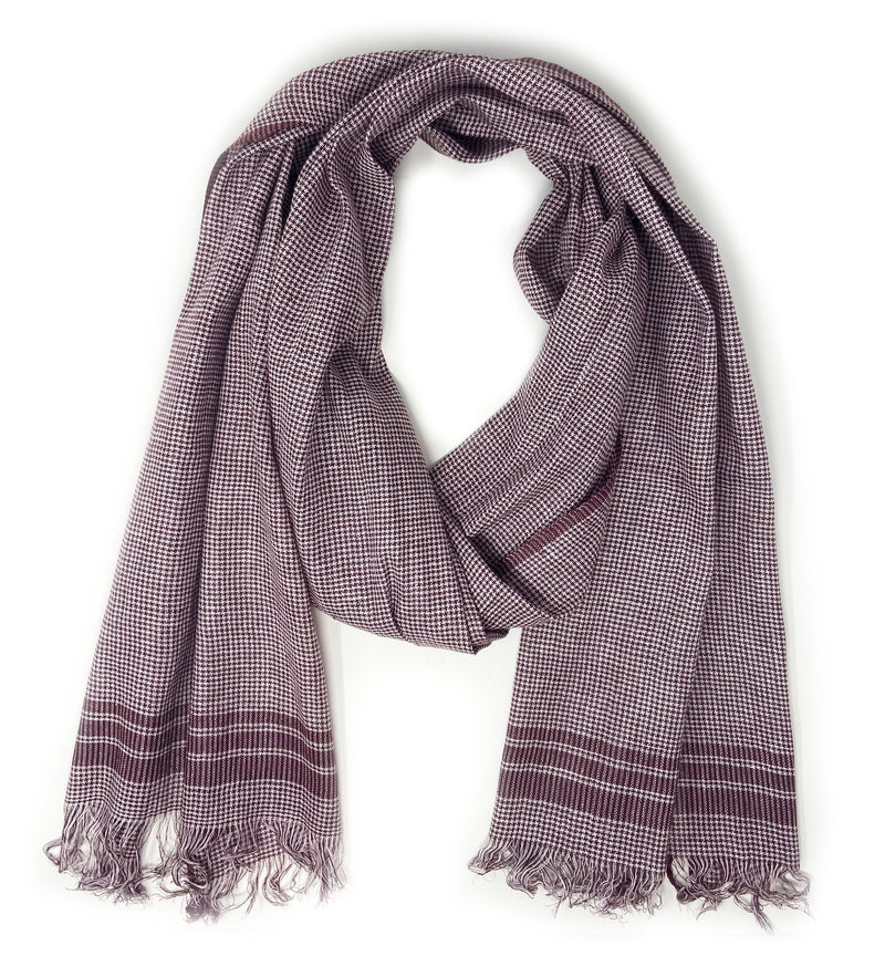 Houndstooth Scarf: Maroon