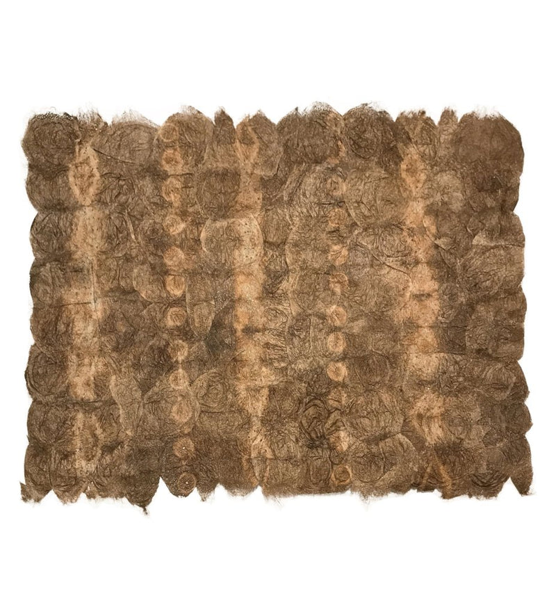 Shibori Silk Placemat: Rustic Brown