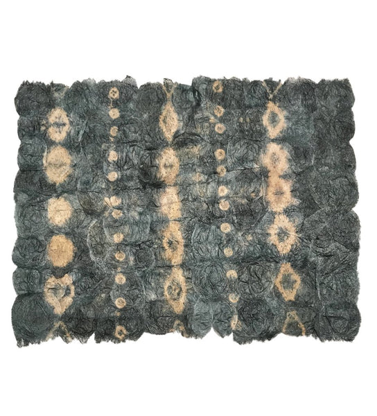 Shibori Silk Placemat: Green