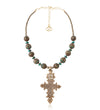 Coral Necklace with Ethiopian Cross