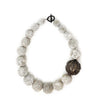 Long Grey Necklace with Mali Bead