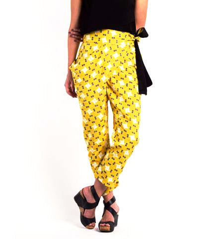 The Sideswept Dhoti Pant: Singapore Solar Yellow