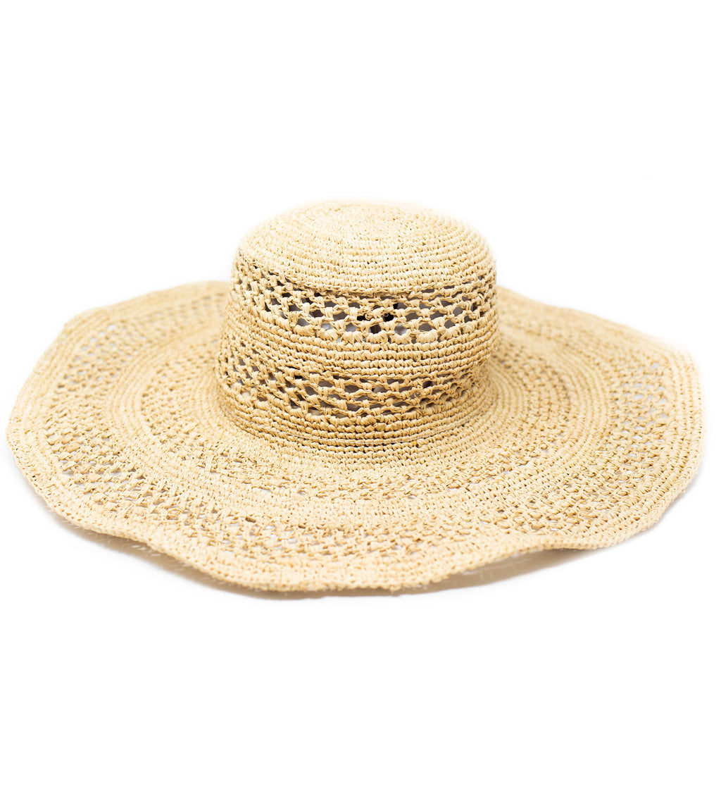 Sienna Wide Brim Sun Hat: Natural