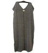 Kyrgyz Felted Sheath Dress: Volcanic Glass on Black