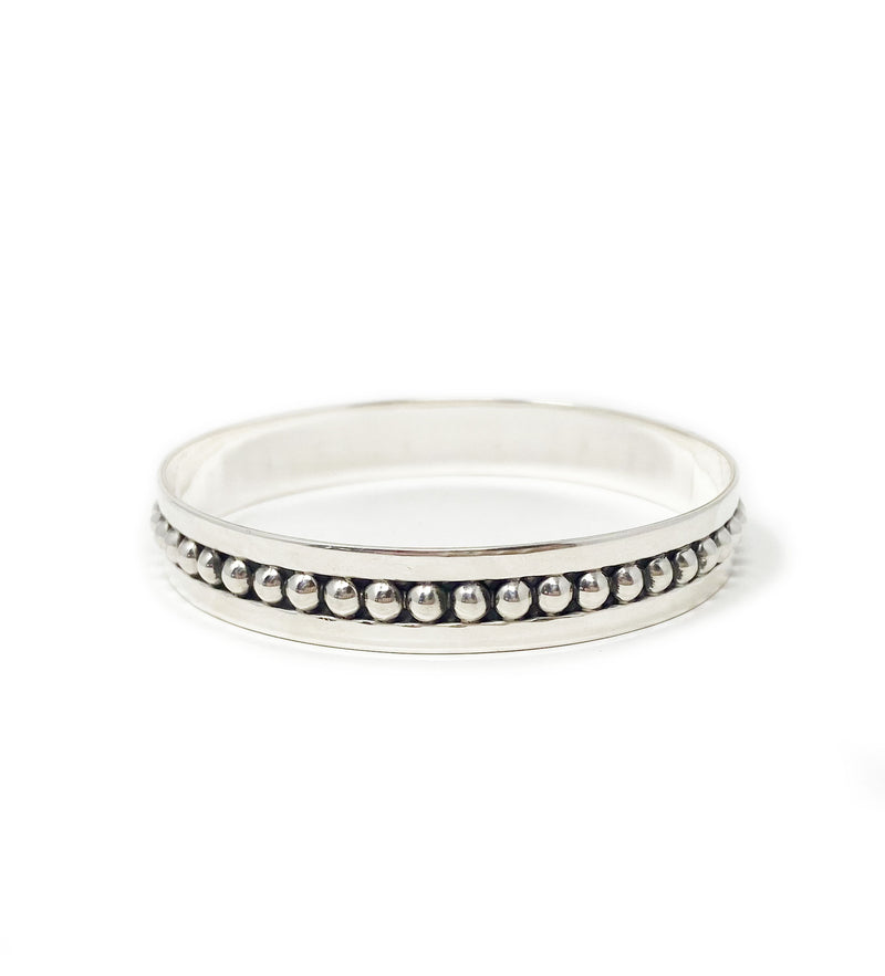 Silver From Mexico: 4mm Specialty Bangle