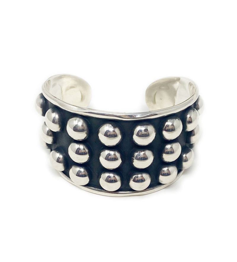 Silver from Mexico: Large Multi Dot Cuff