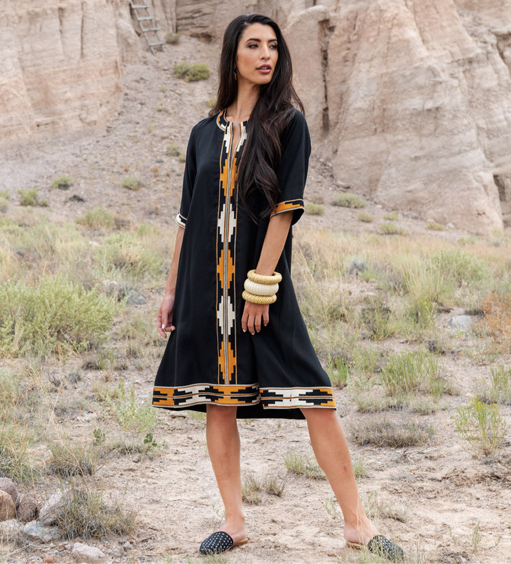 The Sindh Dress: Black Short