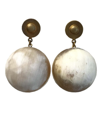 Extra Large Talisman Brass Earrings