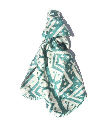 Six Paddles Tai Muang Silk Shawl: Teal