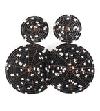 Skyburst Earrings: Black and White