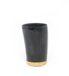 Horn Napkin Ring with Ridge: Black