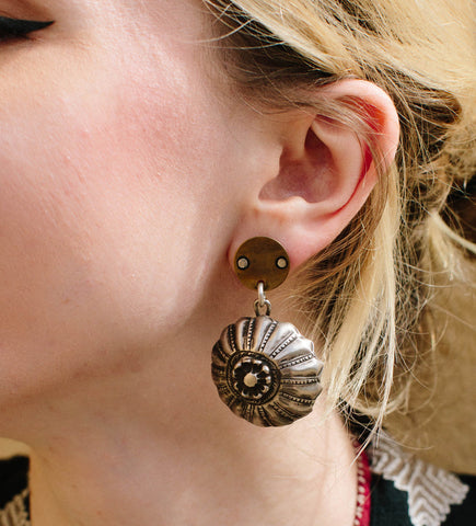 Original Indian Ear Spool Earrings