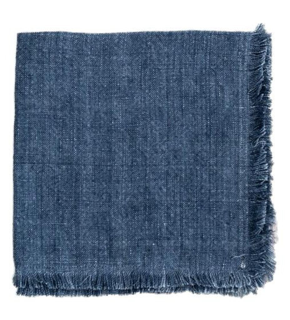 Stone Washed Linen Dinner Napkin: Denim