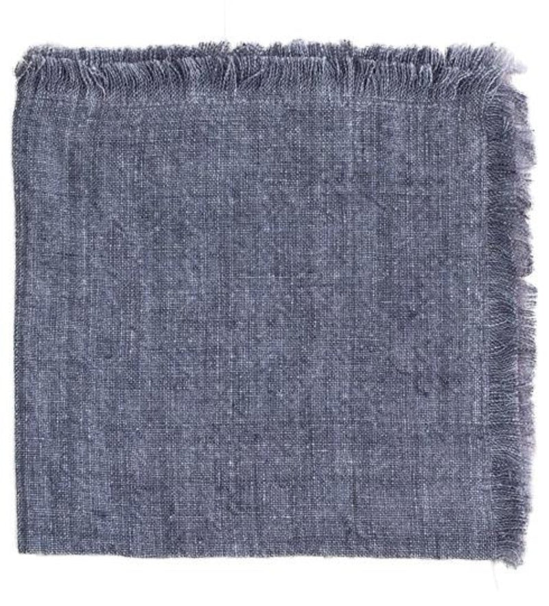 Stone Washed Linen Dinner Napkin: Grey