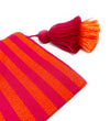Stripe Pouch: Fuchsia/Orange