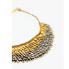 Sudarshan Gunmetal and Gold Short Necklace