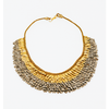 Small Fringe Crescent Earring: Amber