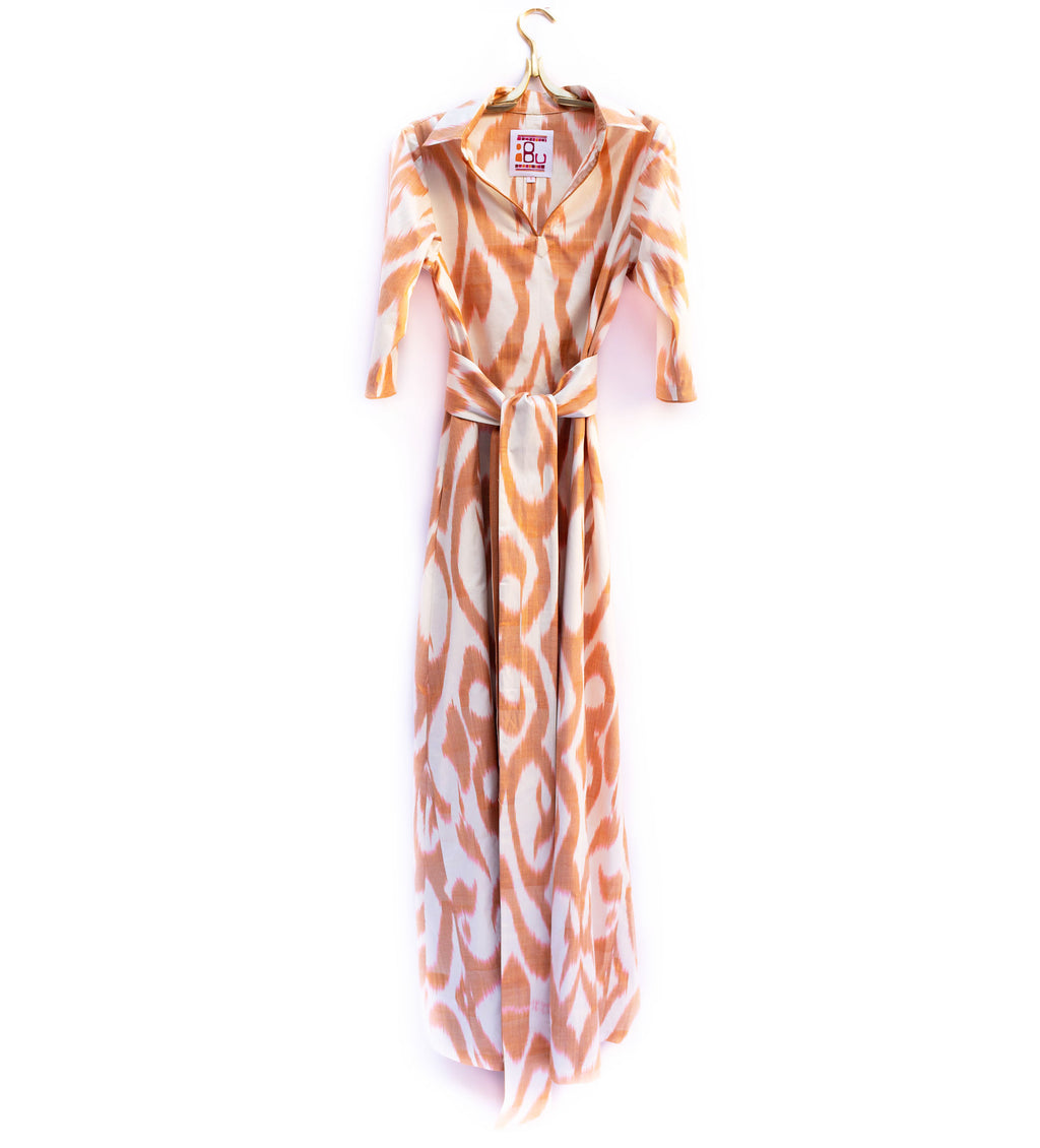 Sunrise Ikat Long Dress
